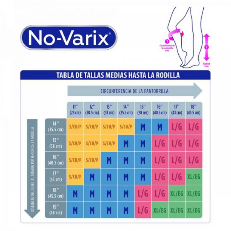 MEDIA NO-VARIX 8-15 MM/HG